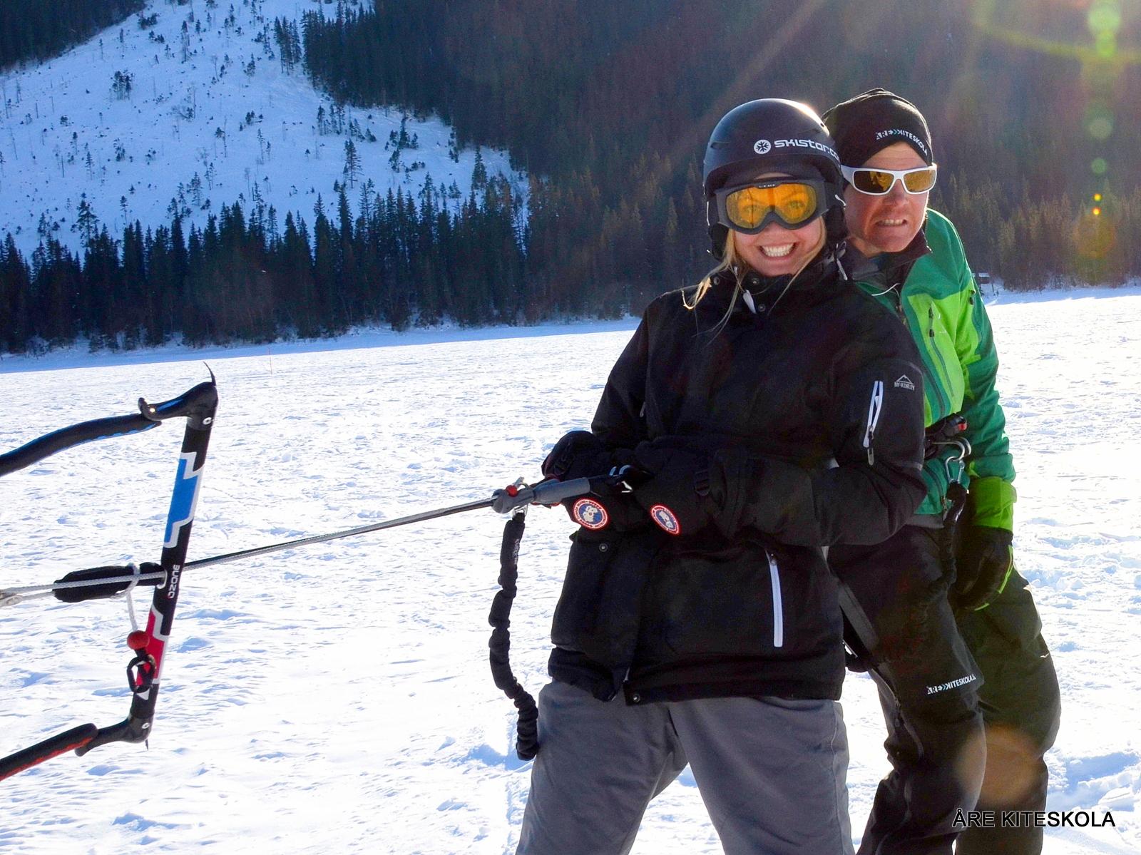 Snowkiting på Åre Kiteskola