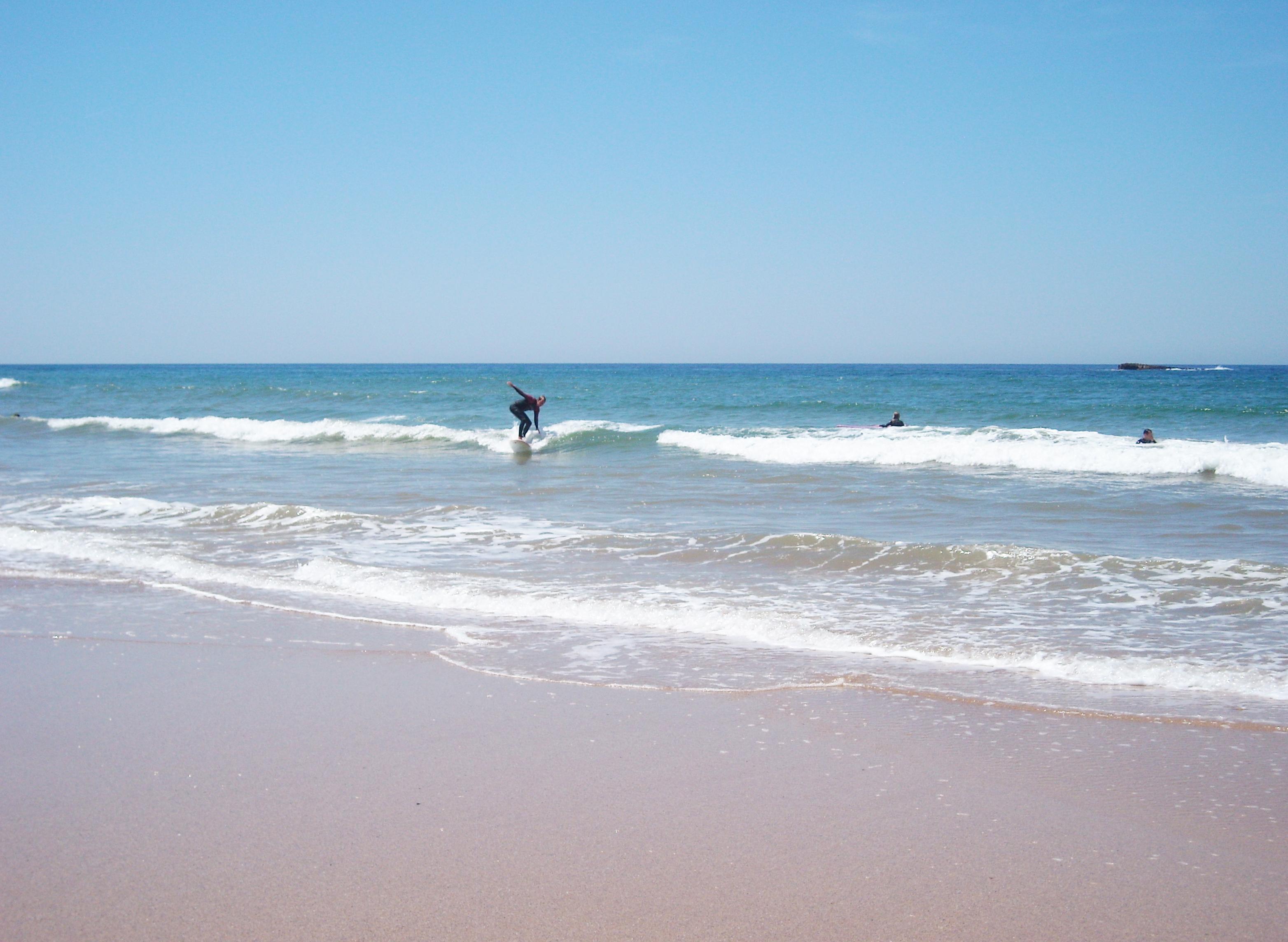 Praia do amado på Algarvekusten i Portugal