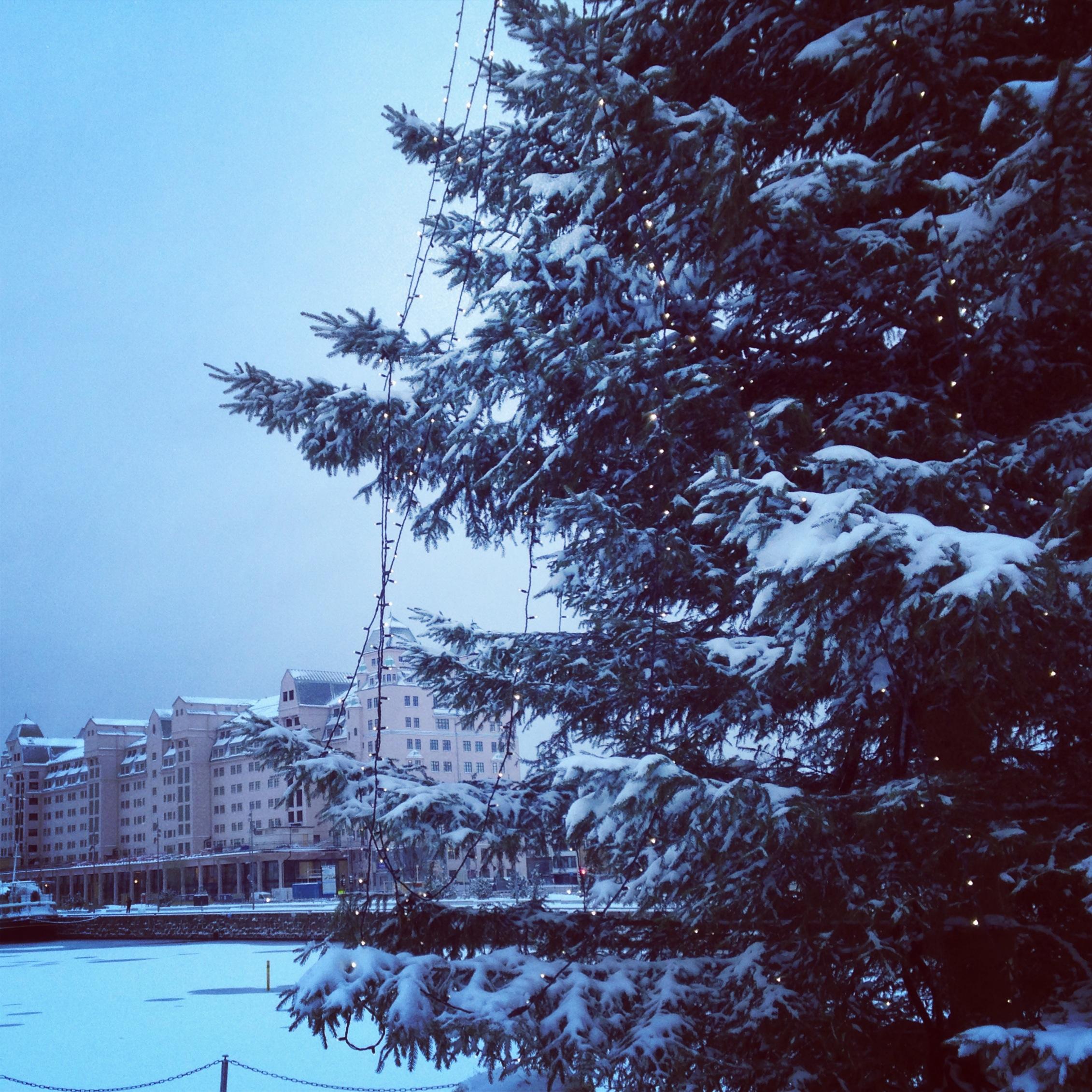 Oslo i Norge under jul