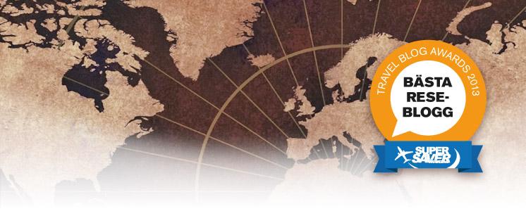 Nominerad i Travel Blog Awards