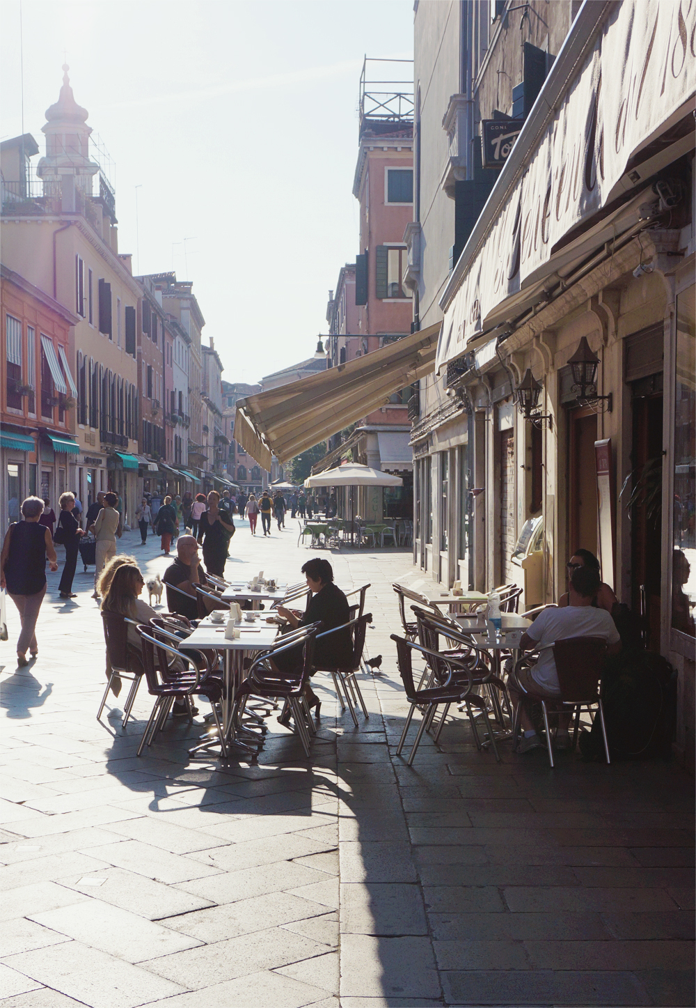 venedig italien interrail cafe
