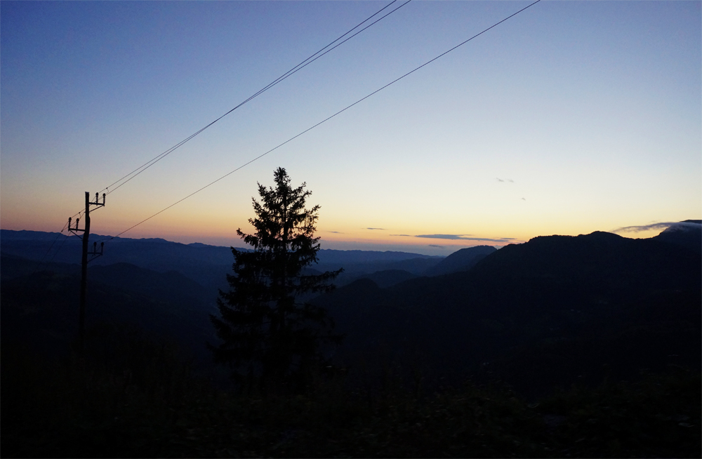 sunset cerkno