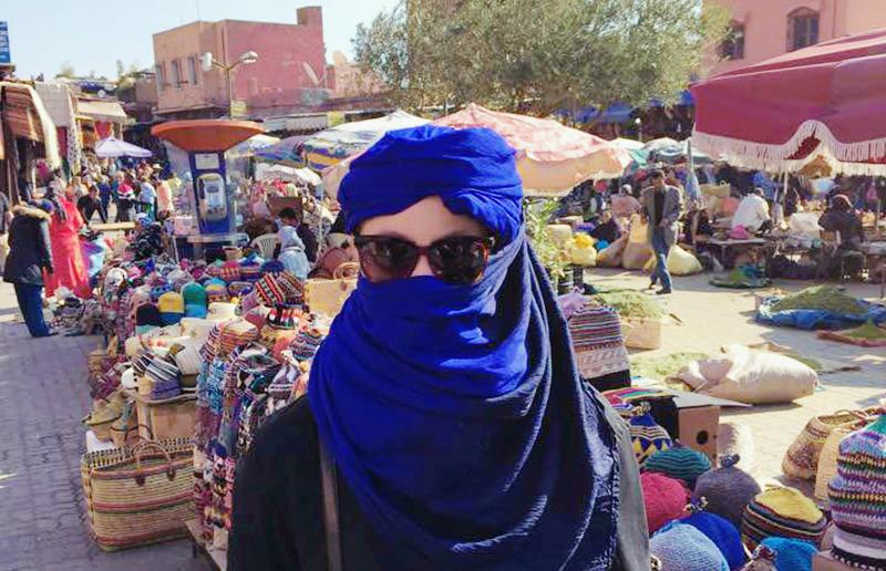 Kvinna i Marrakech