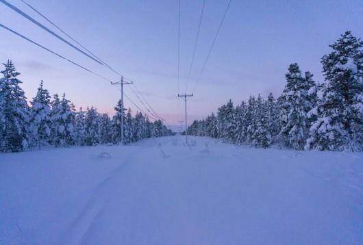 Vinterlandskap i finska Lappland