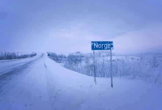 Norska gränsen i finska Lappland