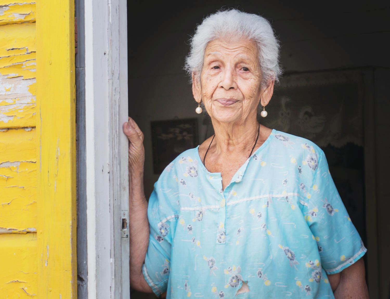 Kvinna i Oranjestad