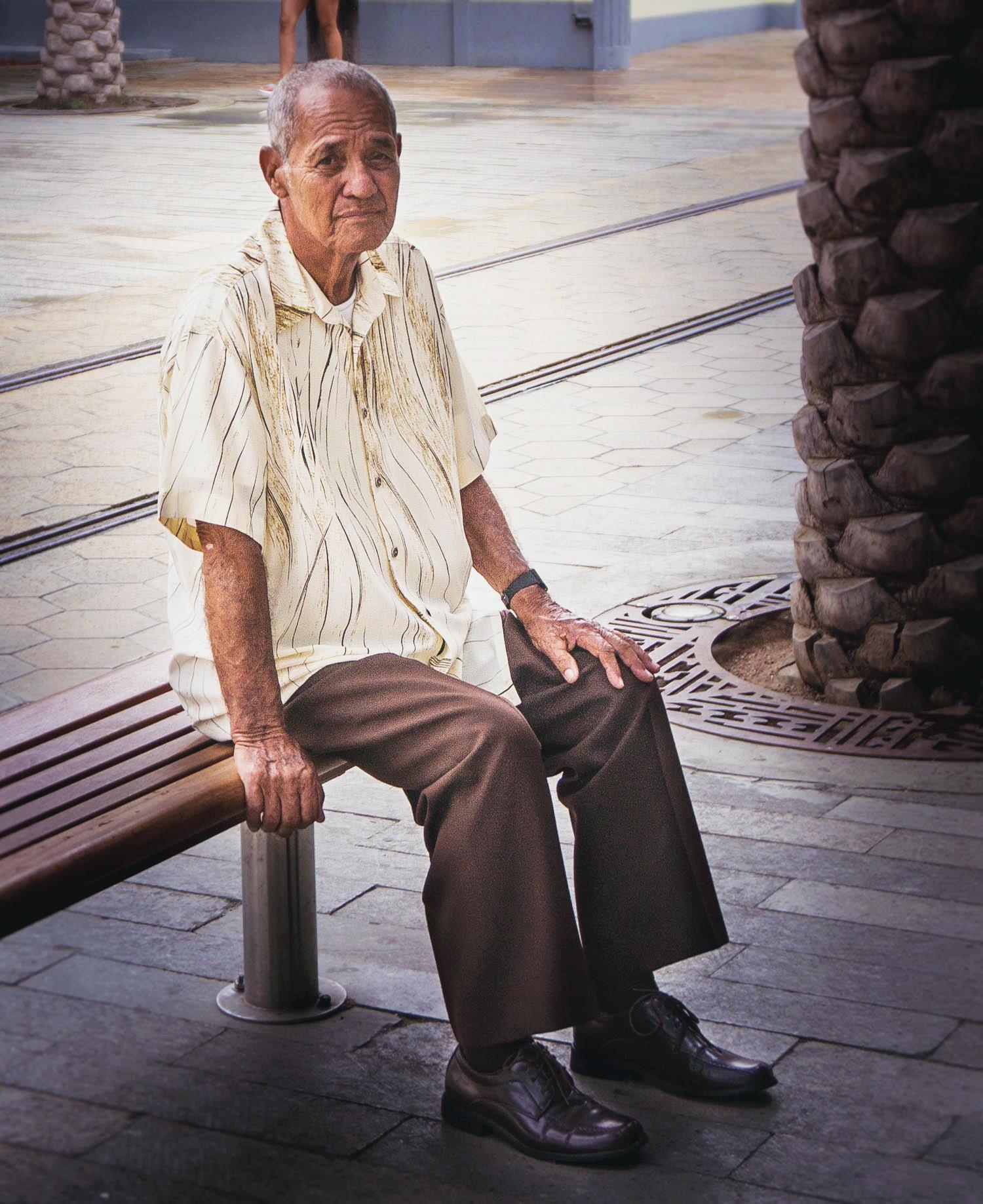 Man i huvudstaden Oranjestad