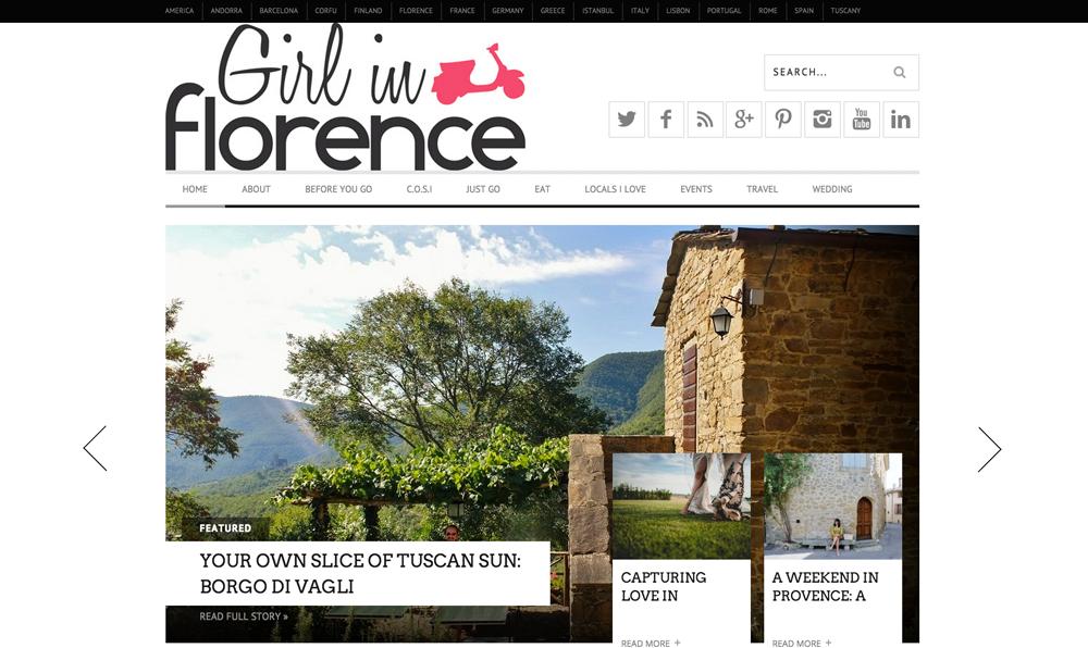 Travel blog Girl in Florence