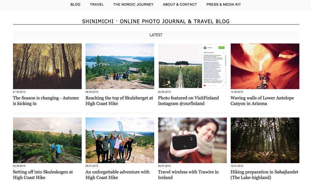 Travel blog Shinimichi