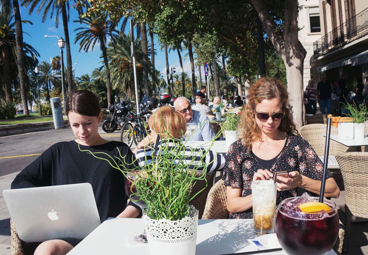 En dag på workation i Palma de Mallorca
