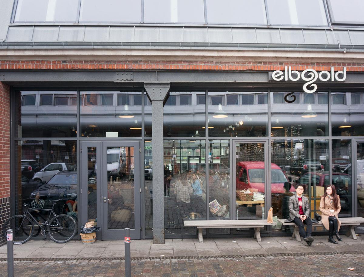 Elbgold Café i Hamburg