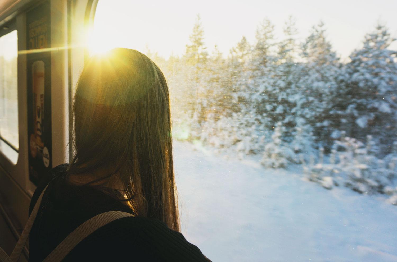 Tåg genom finska ödemarker