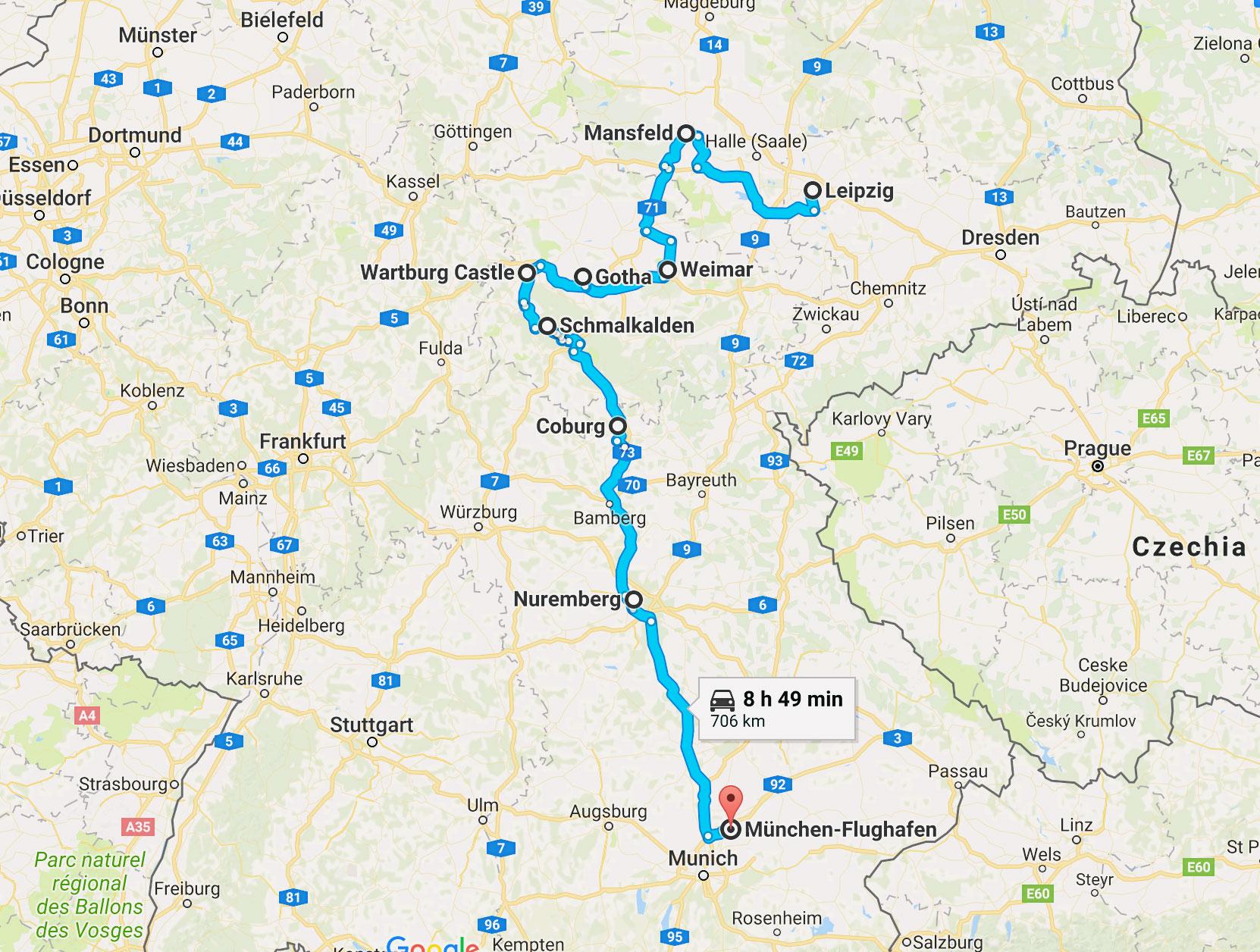 Upcoming: 7 tyska städer på 7 dagar