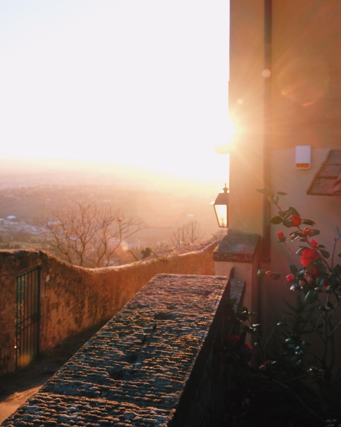 Fiesole solnedgång