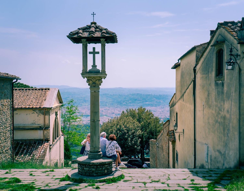 Fiesole utanför Florens i Toscana