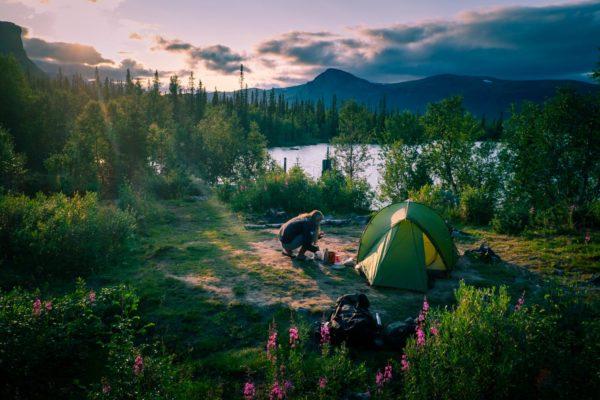 Fjällvandring från Kvikkjokk till Saltoluokta