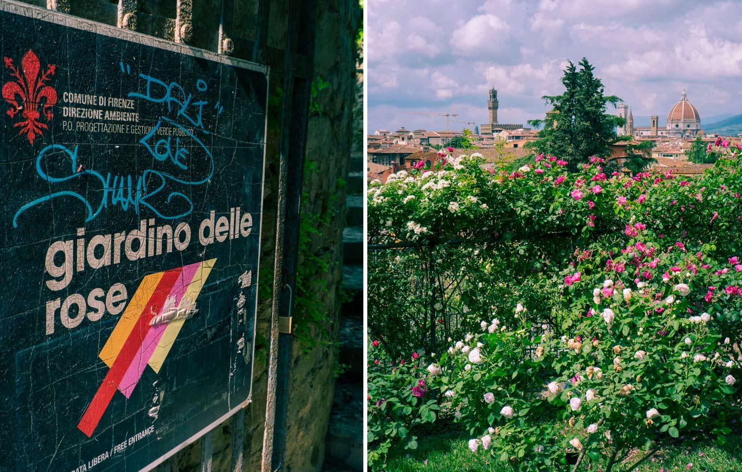 Giardino delle rose, Florens