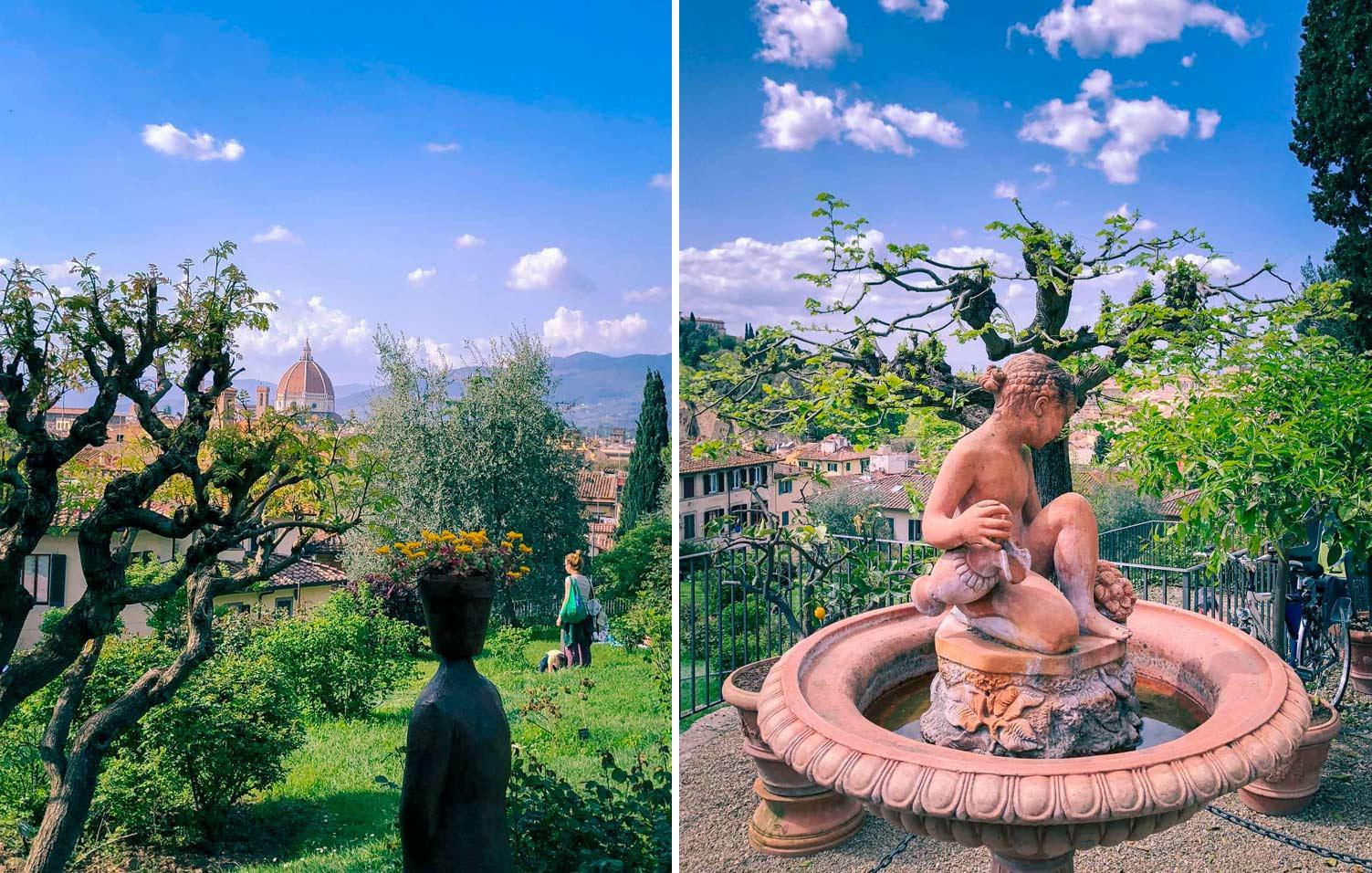 Restips: trädgård i Florens, Giardino delle rose