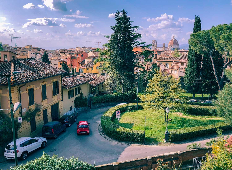 Utsikt från Giardino delle rose i Florens