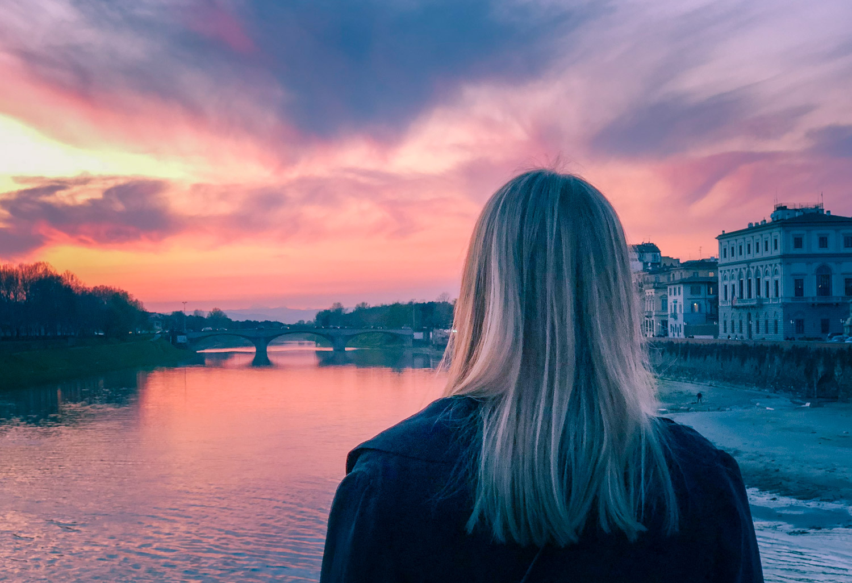 Toscansk solnedgång i Florens