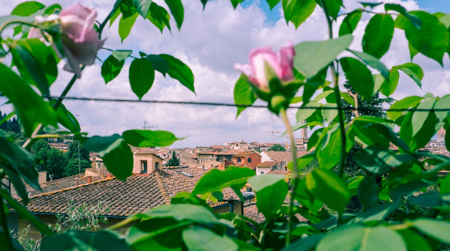 Utsikt över Florens från Giardino delle rose