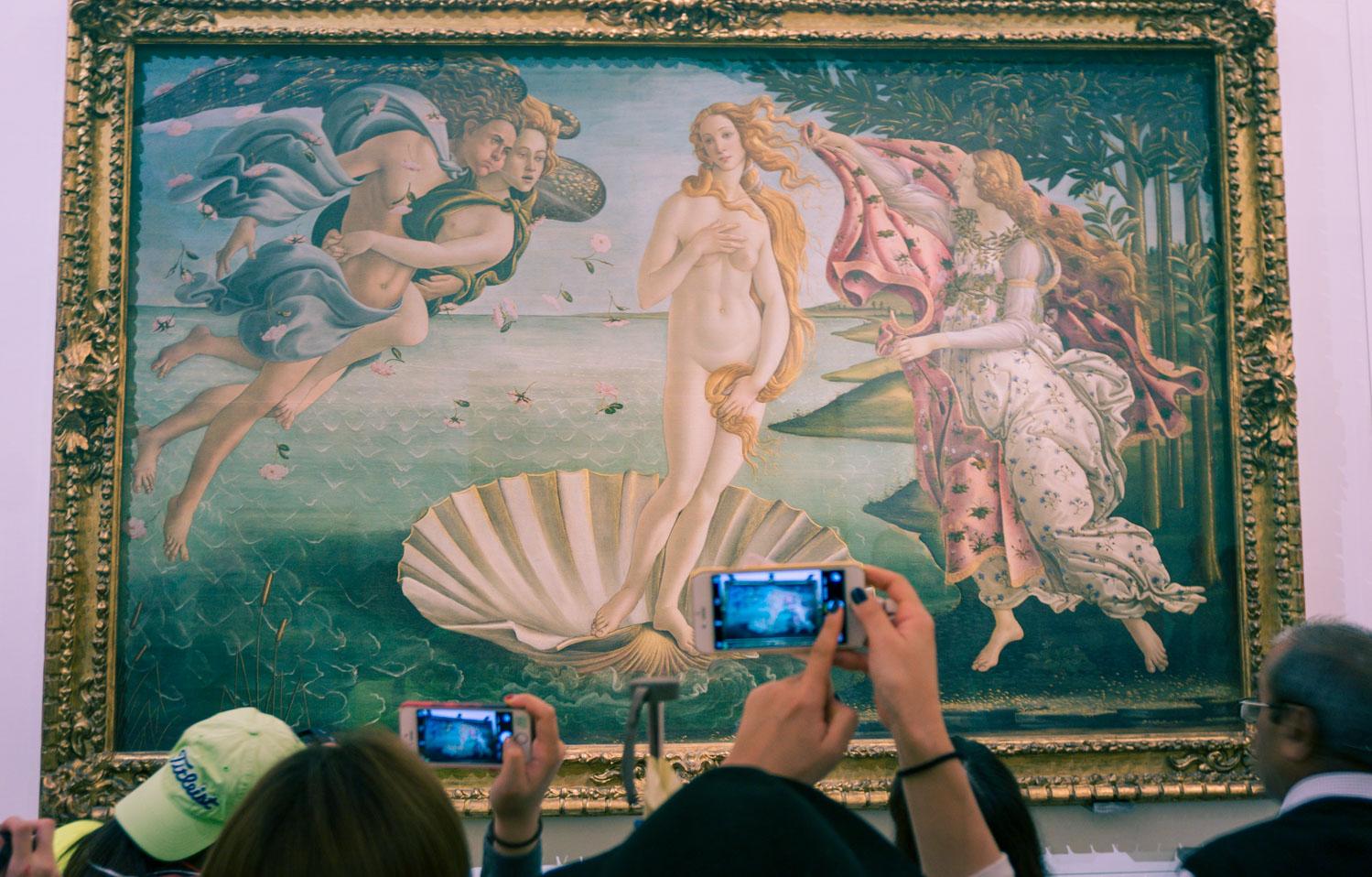 Besöka känd konst i Uffizi – att göra i Florens