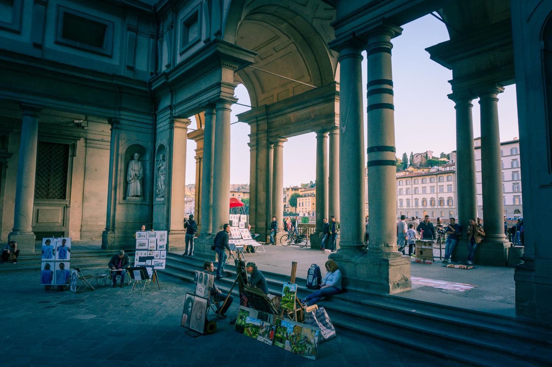 Florens vid Uffizi