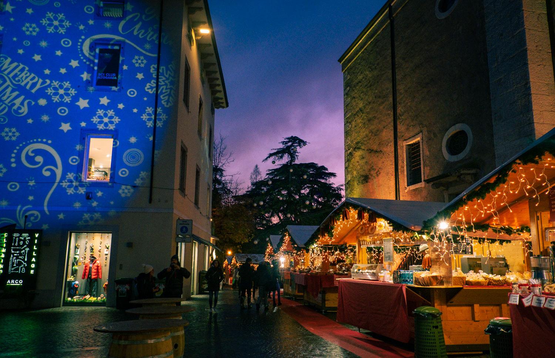 Julmarknad i Arco i norra Italien