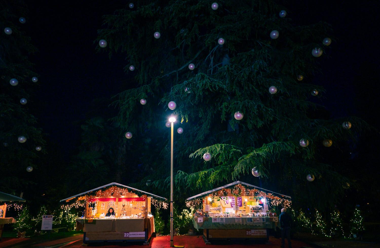 Julmarknad i den italienska staden Arco
