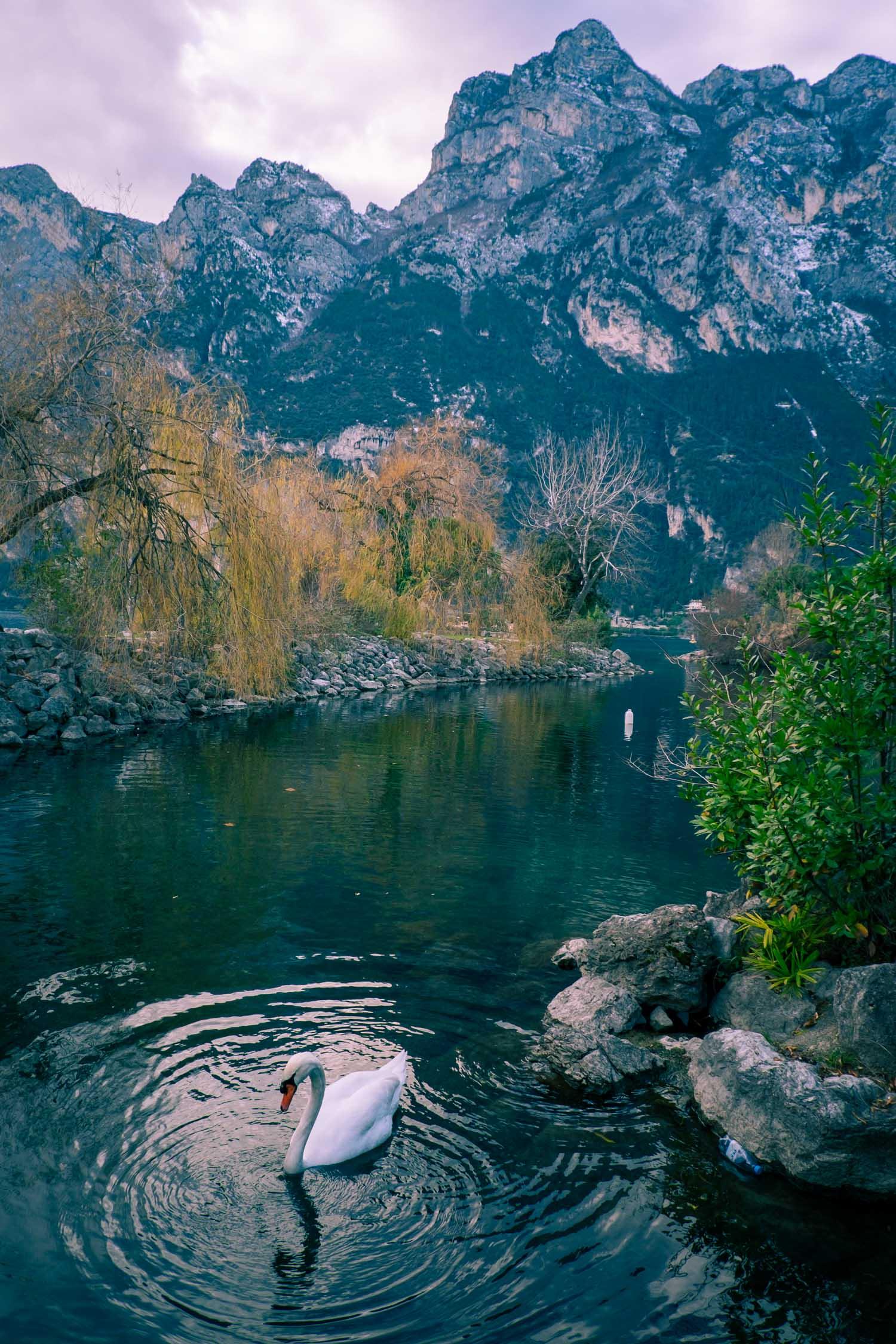 Riva del Garda vid Gardasjön