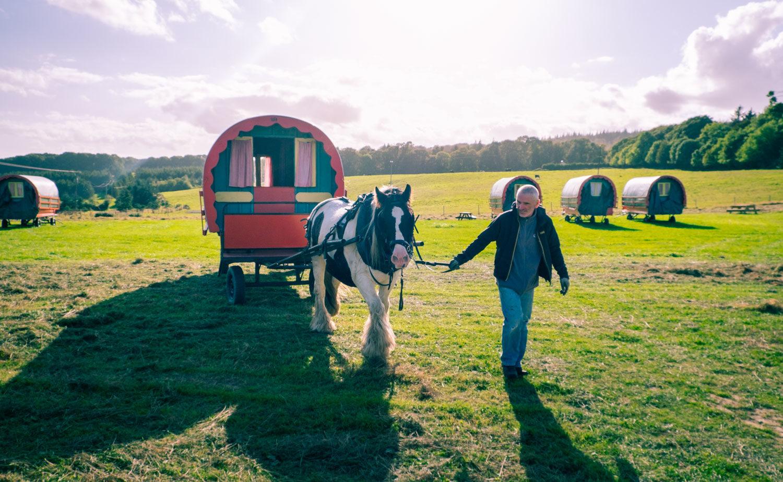 Glamping på Irland - med häst och vagn