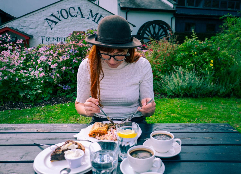 Lunch vid Avoca Mill Irland