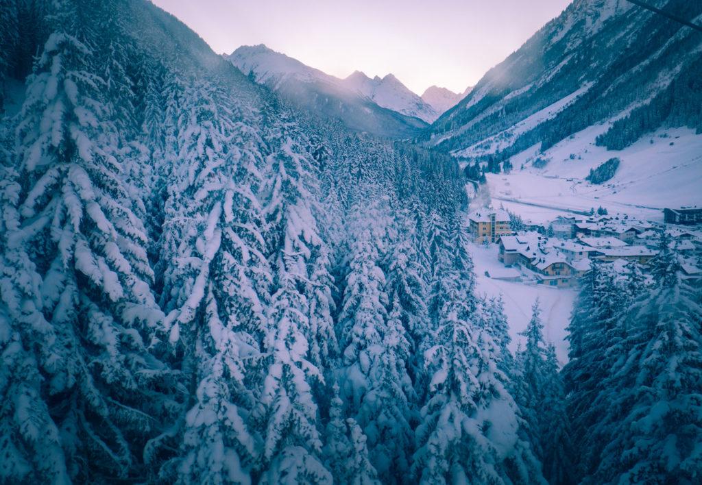 Vacker utsikt i Ischgl Österrike