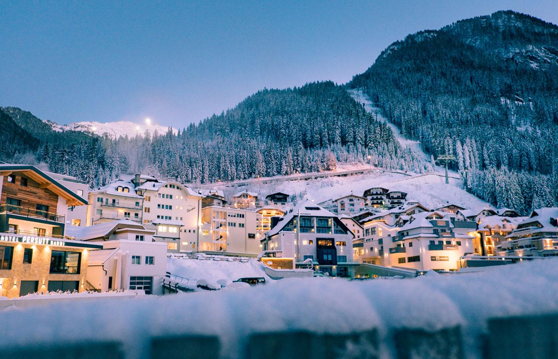 Alpbyn Ischgl i Österrike