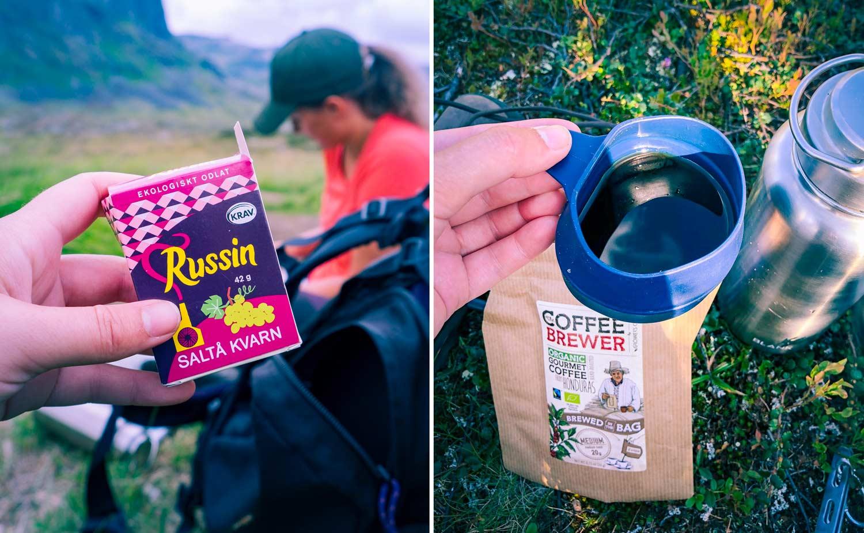 Fjällvandring packning mat – Kungsleden från Abisko till Nikkaluokta