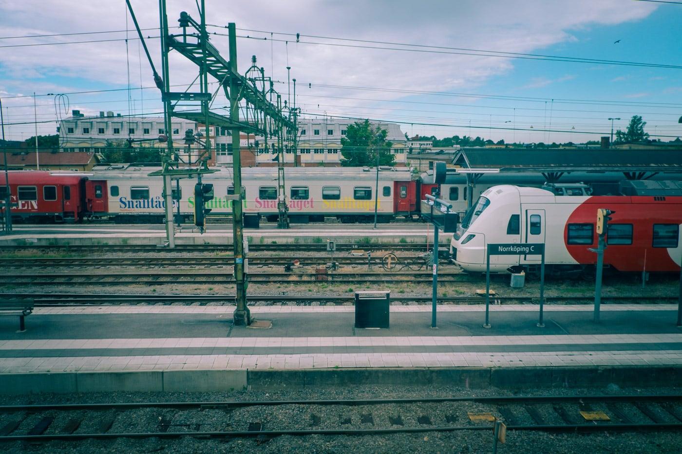 Utsikt från boende i tågstation i Norrköping