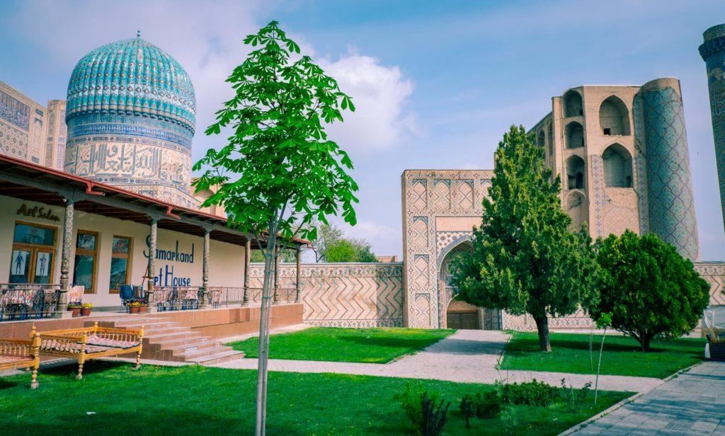 Samarkand art house cafe i Uzbekistan