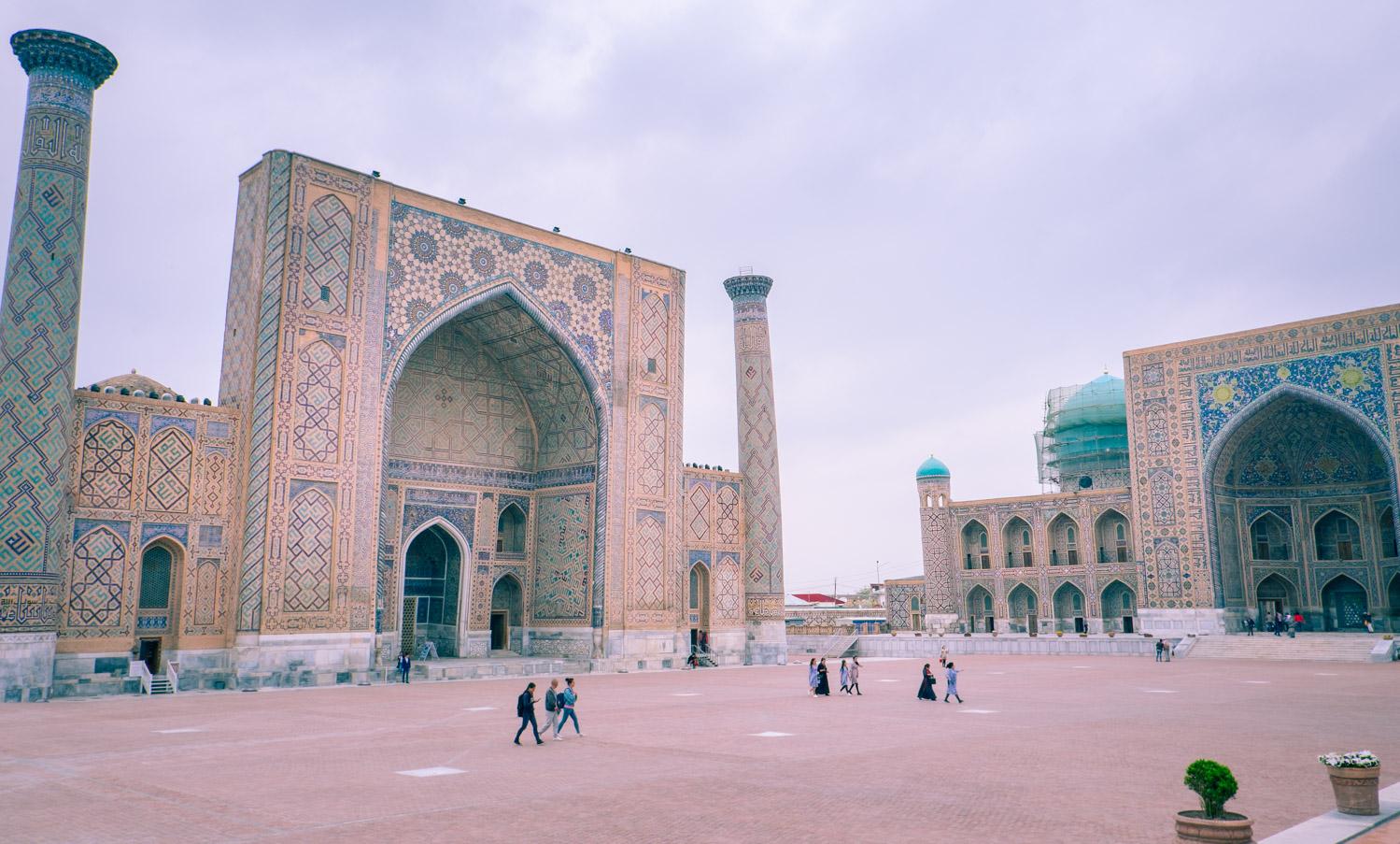 Att göra i Samarkand: Besöka torget Registan