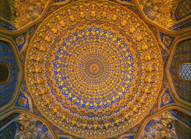 Taket i Registan i Samarkand i Uzbekistan