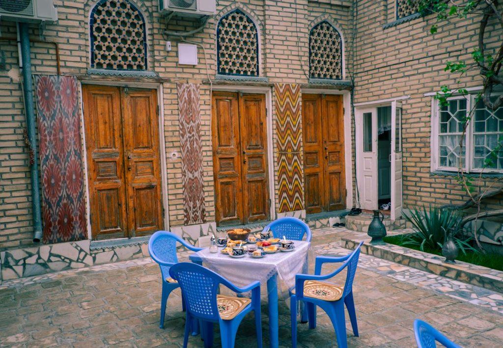 Hostel i Buchara Uzbekistan