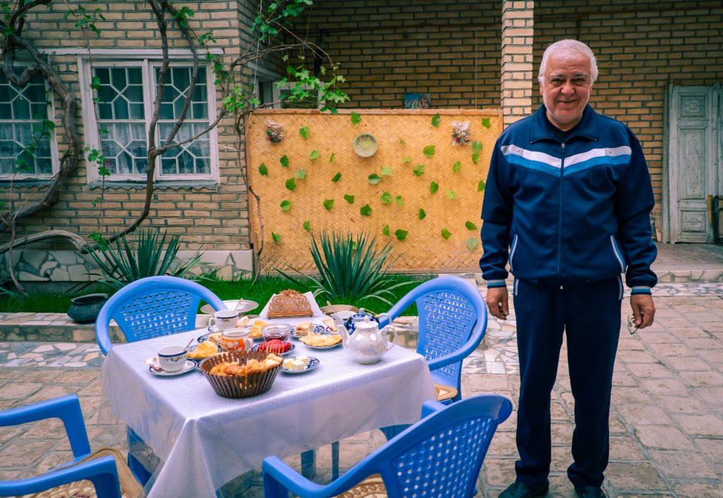Vårt hostel i Buchara Uzbekistan.