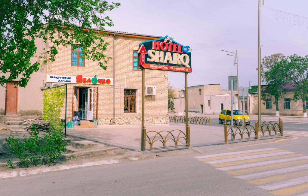 Hotell i Buchara i Uzbekistan