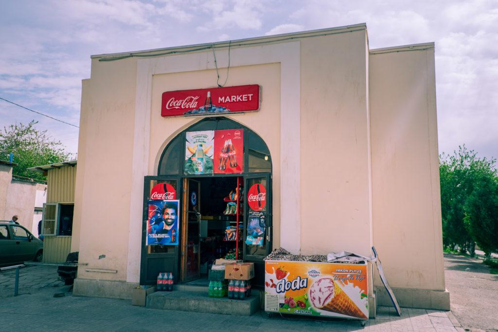 Supermarkets i Buchara i Uzbekistan