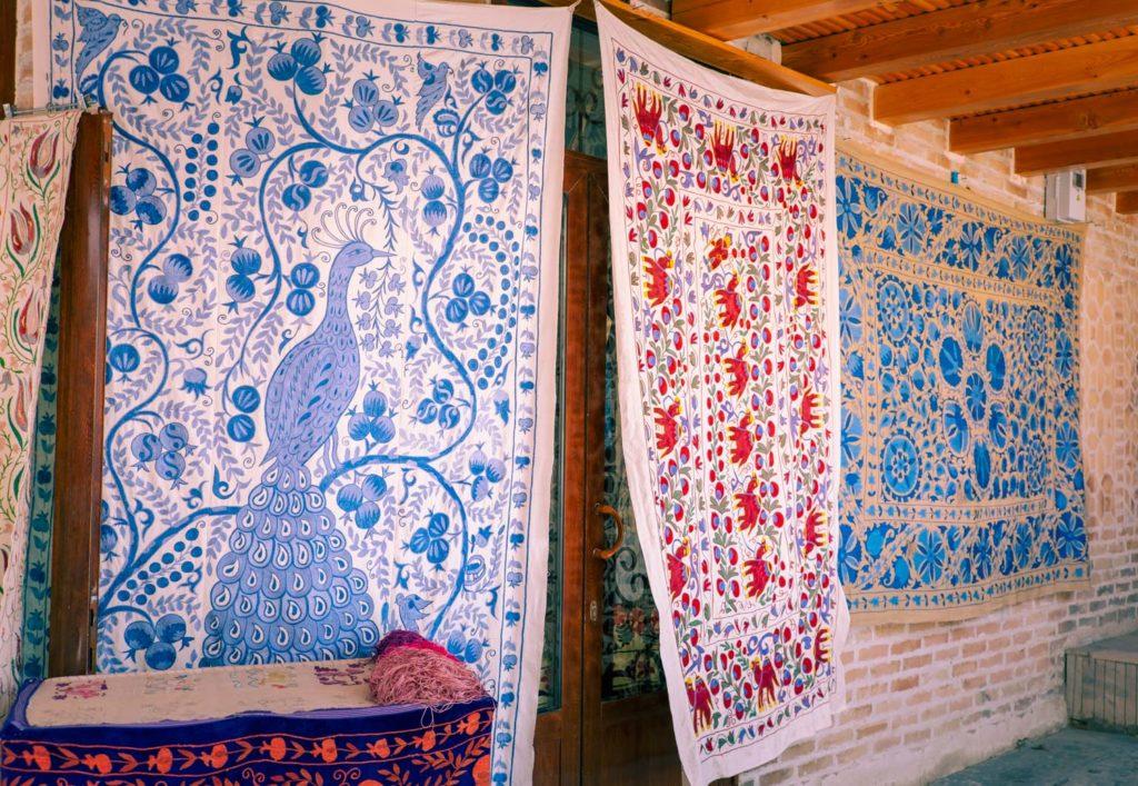 Mattor i Buchara i Uzbekistan